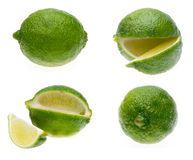 Group of Fresh Limes Stock Photography