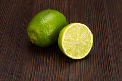 Group of fresh limes Royalty Free Stock Photos