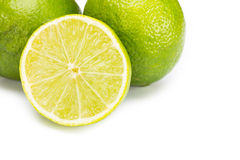 Group of fresh limes Royalty Free Stock Images