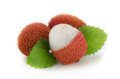 A group of fresh Lychees Stock Photos
