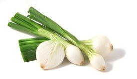 Group of fresh onions. Royalty Free Stock Images