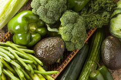 Group of Fresh Organic Assorted Green Vegetables. Group of Raw Fresh Organic Assorted Green Vegetables Stock Photography