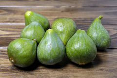 Group of fresh organic green figs Stock Image