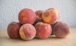 Group of fresh peaches bought on local market Royalty Free Stock Photo