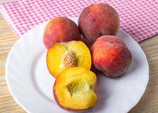 Group of fresh peaches Stock Image