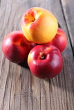 Group of fresh peaches Stock Photos