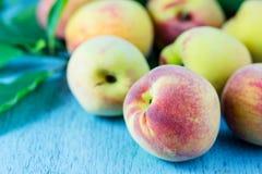 Group of fresh peaches Stock Photos