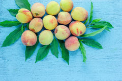 Group of fresh peaches Royalty Free Stock Photography