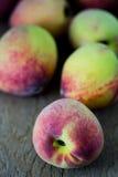 Group of fresh peaches Stock Photo