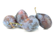 A group of fresh plums Stock Photo