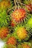 Group of fresh rambutan red skin Stock Images