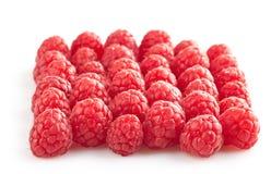 Group of fresh raspberries Stock Photos