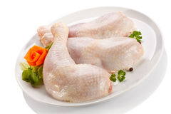 Fresh raw chicken legs Stock Images