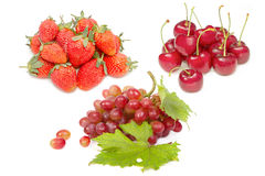 Group of fresh red fruit for healthy nutrition Royalty Free Stock Photography