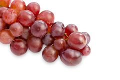 Group of fresh red grape isolated on white background Stock Photography