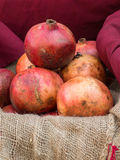 Group of fresh red pomegranates fruits Stock Photography