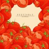 Fresh ripe tomatoes illustration. Group of fresh red tomatoes vector illustration Stock Image