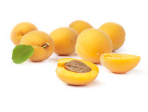 Group fresh ripe apricot Stock Photos