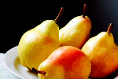 Group of Fresh Ripe Pears Stock Images