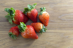 Group of fresh strawberries Royalty Free Stock Image
