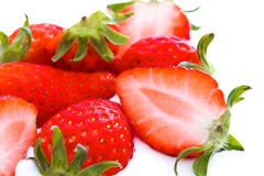 Group of fresh strawberry Royalty Free Stock Photos