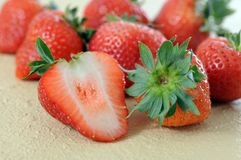 Group of fresh strawberry Royalty Free Stock Photo