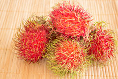 Group of fresh sweet rambutans. Stock photo Royalty Free Stock Photography