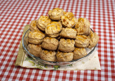 Group of fresh traditional hungarian country food homemade pogac Royalty Free Stock Images