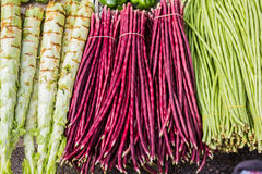 Group of fresh vegetable in a market, China. Royalty Free Stock Images