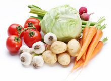 Group of fresh vegetables Stock Photo
