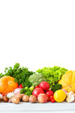 Group of fresh vegetables and fruits. Stock Images