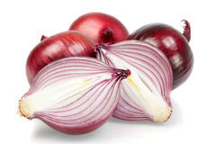 Group of fresh vegetables, onion, in the cut. Stock Photography