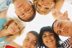 Group friemds faces Royalty Free Stock Photo