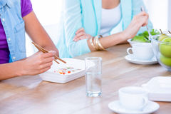 Group of friend eating together Royalty Free Stock Photography