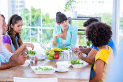 Group of friend eating together Royalty Free Stock Photo