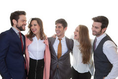 Group of friendly business people Stock Photo