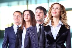Group of friendly businesspeople Royalty Free Stock Photos