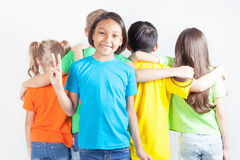 Group of friendly childrens like a team together Stock Image