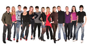 Group of friends. On a white background royalty free stock image