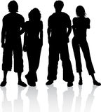 Group of friends. Silhouette of a group of friends vector illustration