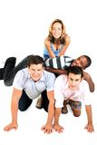 Group of friends. A group of friends, piled on each other Stock Photos