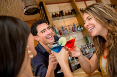 Group of friends at the bar Stock Photography