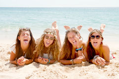 Group of friends. At the beach Royalty Free Stock Images