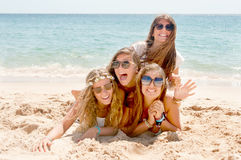 Group of friends. At the beach Royalty Free Stock Photo