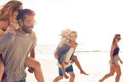 Group of friends on beach vacation Royalty Free Stock Photo
