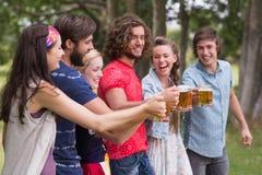 Group of friends celebrating oktoberfest Stock Photo