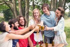 Group of friends celebrating oktoberfest Stock Image