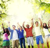 Group Friends Celebration Winning Victory Fun Concept Stock Photography