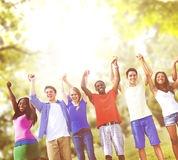 Group Friends Celebration Winning Victory Fun Concept Royalty Free Stock Photos