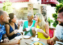 Group Friends Chilling Talking Holiday Concept Royalty Free Stock Image